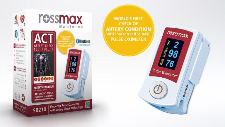 เครื่องวัดออกซิเจนในเลือดปลายนิ้วยี่ห้อไหนดี rossmax sb210