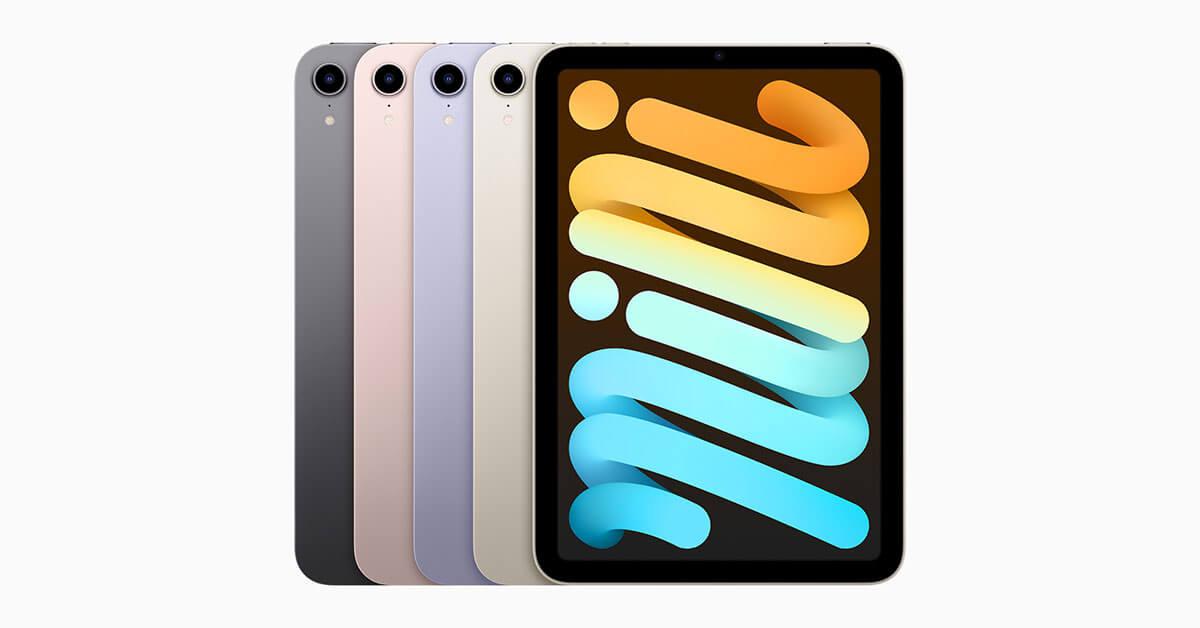 เปิดตัว iPad mini 6 ดีไซน์ใหม่ พอร์ต USB-C รองรับ 5G ราคาเริ่มต้น 17,900 บาท