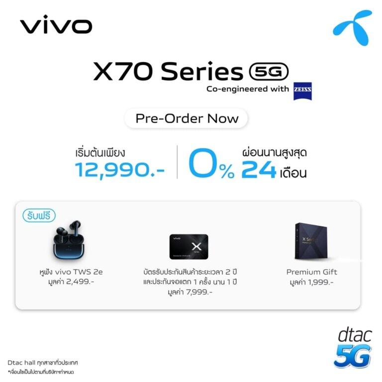 6. X70 Series Pre order DTAC 1
